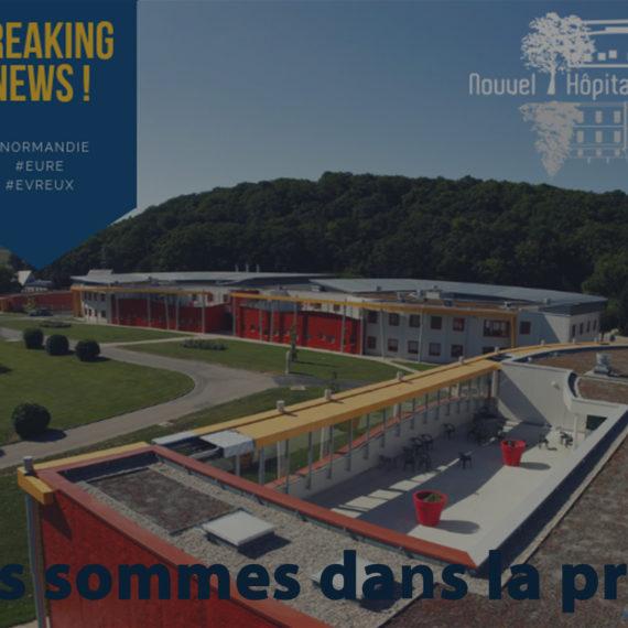 Le Nouvel Hôpital de Navarre est dans la Presse