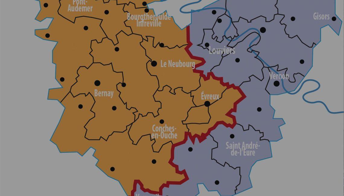 Carte pôle territoriaux - notre Organisation du dispositif de soins- Nouvel Hôpital de Navarre