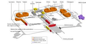 Venir et se repérer à l'hôpital - plan de situation - Nouvel Hôpital de Navarre