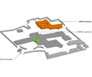 Se repérer à l'UPHCD Calmette de Vernon - Nouvel Hôpital de Navarre