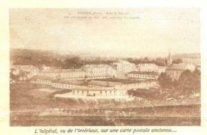 Vue de l'hôpital sur carte postale - Histoire du Nouvel Hôpital de Navarre