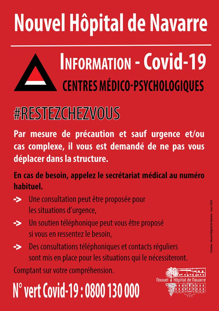 Covid-19 mesures provisoires d'accueil dans les Centres Médico-psychologiques (CMP)