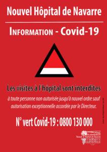 Visites interdites dans les unités de soins au Nouvel Hôpital de Navarre