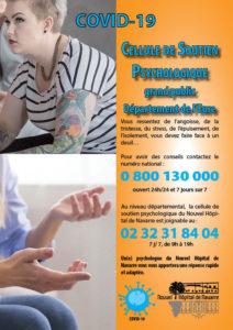 Covid19 - Affiche soutien psychologique grand public - Nouvel Hôpital de navarre