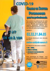Covid19 - Affiche soutien psychologique pour les professionnels - Nouvel Hôpital de navarre