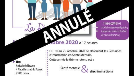 SISM 2020 - annulation de l'atelier - Covid19